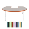 "Mahar Horseshoe Creative Colors Activity Table (60"" x 66"")  (Mahar MHR-6066H)"