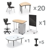 MooreCo CRXM-20-7909-XXXX Classroom X Basic Plus Complete Classroom Package Set (49 Items) - (5th-adult) ship in just 5 days! (MooreCo MOR-CRXM-20-7909-XXXX)