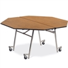 "Virco MT60OCT - Octagonal Mobile Cafeteria Table - Bullnose T Mold Edge - 60"" Dia (Virco MT60OCT)"