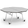 "Virco MT60OCTAE - Octagonal Mobile Cafeteria Table - Sure Edge - 60"" Dia (Virco MT60OCTAE)"