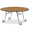 "Virco MT60R - Mobile Cafeteria Table contourfold, 60"" round, black edge Banding  (Virco MT60R)"