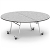 "Virco MT72RAE - Round Mobile Folding Cafeteria Table - Sure Edge - 72"" Dia (Virco MT72RAE)"