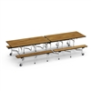 "Virco MTB152710 - Mobile Bench Cafeteria Table 15""H x 10'L Bench, 27""H x30""W x 10'L  (Virco MTB152710)"