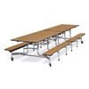 "Virco MTB152712 - Mobile Bench Cafeteria Table 15""H x 12""L Bench, 27""H x30""W x 12""L  (Virco MTB152712)"
