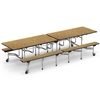 "Virco MTB172910 - Mobile Bench Cafeteria Table - Bullnose T Mold Edge 17""H x 10""L Bench, 29""H x30""W x 10""L  (Virco MTB172910)"