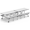 "Virco MTB172910AEB - Mobile Bench Cafeteria Table - Sure Edge - 17""H x 10""L Bench, 29""H x 30""W (Virco MTB172910AEB)"