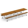 "Virco MTB172912 - Mobile Bench Cafeteria Table 17""H x 12""L Bench, 29""H x30""W x 12""L  (Virco MTB172912)"