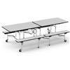 "Virco MTB17298AEB - Mobile Bench Cafeteria Table - Sure Edge - 17""H x 8'L Bench, 29""H x 30""W (Virco MTB17298AEB)"