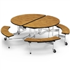 "Virco MTBO15275 Oval Mobile Bench Table - 82""L x 77""W (Virco MTBO17295)"