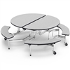 "Virco MTBO17295AEB - Oval Mobile Bench Table - Sure Edge - 82""L x 77""W (Virco MTBO17295AEB)"