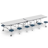 "Virco MTS17291212AE - Mobile Stool Cafeteria Table - Sure Edge - 17"" Seat Height - 12'L - 12 Stools (Virco MTS17291212AE)"