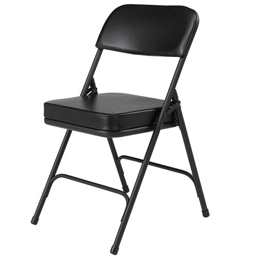Upholstered virco folding chairs in padded seat - Nps Upholstered Seat Folding Chair