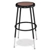"NPS 25-33"" Black FrameAdjustable Stool with Hardboard Seat  (National Public Seating NPS-6224H-10)"