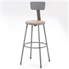 "NPS 30""H Stool with Hardboard Seat & Backrest  (National Public Seating NPS-6230B)"