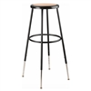 NPS 24 inches Heavy Duty Steel Stool with Vinyl Padding - Black (National Public Seating NPS-6230H-10)