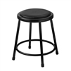 NPS 18 inch H Heavy Duty Steel Stools with Vinyl Padding - Black