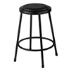 NPS 24 inches Heavy Duty Steel Stool with Vinyl Padding - Black (National Public Seating NPS-6424-10)