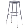 "NPS 25-33""H Adjustable Height Stool with Padded Seat  (National Public Seating NPS-6424H)"