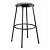 "NPS 30""H Stool with Padded Seat  (National Public Seating NPS-6430-10)"