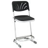 "NPS Elephant Z-stool 22""H Stool with Blow Molded Seat and Backrest  (National Public Seating NPS-6622B)"