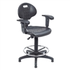 NPS Kangaroo Stool Polyurehtane Seat and Backrest with Arms National Public Seating NPS-6722HB-A