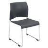 NPS 8800 Series Cafetorium Plastic Stack Chair, Charcoal  (National Public Seating NPS-8820-11-20)