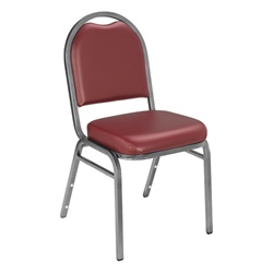 NPS 9200 Dome Vinyl Padded Stack Chair  (National Public Seating NPS-9200)