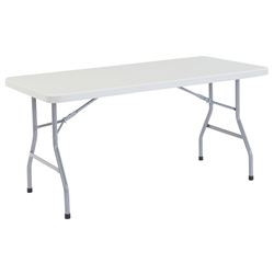 "NPS Lightweight Plastic Top Folding Table - 30""W x 60""L  (National Public Seating NPS-BT3060)"