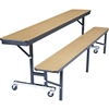 "NPS Mobile Convertible Bench Unit - 84""L x 29""W <br>(National Public Seating NPS-CBG84)"