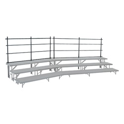 NPS Guard Rails for 32 inch Tapered Risers  (National Public Seating NPS-GRR32T)
