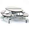 NPS Mobile Cafeteria 10' Elliptical Fixed Bench Unit Seats 8-12 (National Public Seating NPS-METB)