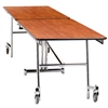 "NPS Mobile Cafeteria Rectangle Table Shape Unit - 30"" W x 145"" L (National Public Seating NPS-MT12)"