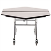 "NPS Mobile Cafeteria Hexagon Table Shape Unit - 48"" W x 48"" L (National Public Seating NPS-MT48H)"