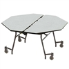"NPS Mobile Cafeteria Octagon Table Shape Unit - 60"" W x 60"" L (National Public Seating NPS-MT60O)"
