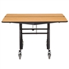 "NPS Mobile Cafeteria Square Table Shape Unit - 60"" W x 60"" L (National Public Seating NPS-MT60Q)"