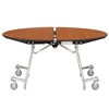 "NPS Mobile Cafeteria Round Table Shape Unit - 60"" W x 60"" L (National Public Seating NPS-MT60R)"