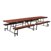 "NPS Mobile Cafeteria Table - 30"" W x 12' L - Seats 12-16 (National Public Seating NPS-MTFB12)"