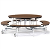 "NPS Mobile Cafeteria 60"" Round Bench Unit Seats 8-12 (National Public Seating NPS-MTR60B)"