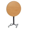 "NPS Cafe Time II Table, 24"" Round, High Pressure Laminate Top, MDF Core, ProtectEdge"