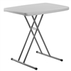 "NPS Personal Folding Table with Adjustable Height - 20""W x 30""L  (National Public Seating NPS-PT3020)"
