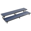 "NPS 2 Level Riser-18""W x 96""L x 8""H and 18""W x 96""L x 16""H Carpet  (National Public Seating NPS-RS2LC)"