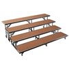"NPS 4 Level Riser-18""W x 96""L x 8""H and 18""W x 96""L x 16""H and 18""W x 96""L x 24""H and 18""W x 96""L x 32""H Hardboard  (National Public Seating NPS-RS4LHB)"