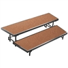 "NPS 2 Level Tapered Riser - 18""W x 60""L x 8""H and 18""W x 66""L x 16""H - Hardboard  (National Public Seating NPS-RT2LHB)"