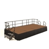 "NPS SG362404HB Portable Stage Groups w/ Hardboard Surface - 8'D x 16'W x 24""H (National Public Seating NPS-SG362404HB)"
