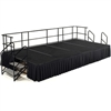 "NPS SG482404C Portable Stage Groups w/ Carpet Surface - 8'D x 16'W x 24""H (National Public Seating NPS-SG482404C)"