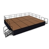 "NPS SG483210HB-SSXX Portable Stage Groups w/ Hardboard Surface - 20'D x 16'W x 32""H (National Public Seating NPS-SG483210HB-SSXX)"