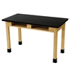 "NPS Science Lab Table - Chem-Res Top - Dual Book Compartment - 24"" x 48""<br> (National Public Seating NPS-SLT2448-BC)"