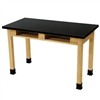 "NPS Science Lab Table - Phenolic Top - Dual Book Compartment - 24"" x 48""<br> (National Public Seating NPS-PSLT3060-36)"