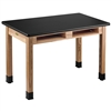 "NPS Science Lab Table - High Pressure Laminate Top - w/ Book Compartment - 24""W x 54""D (National Public Seating NPS-HSLT2454-BC)"