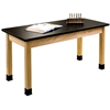"NPS Science Lab Table - Chem-Res Top - Plain Front - 24"" x 72""<br> (National Public Seating NPS-SLT2472)"